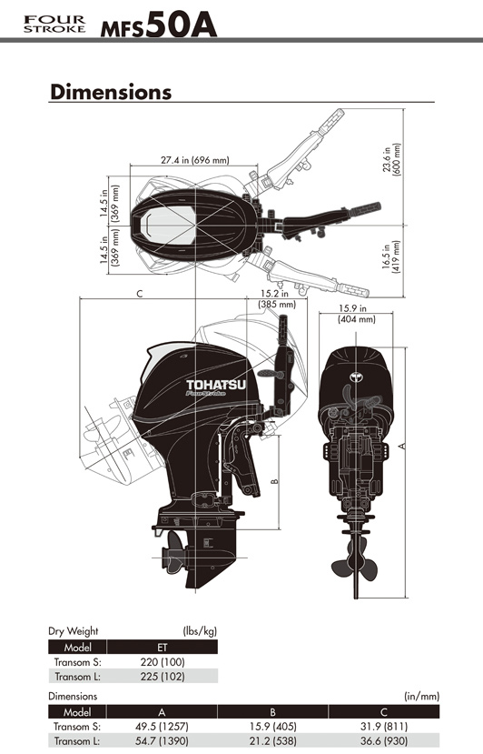 Outboard Motor Engine Features